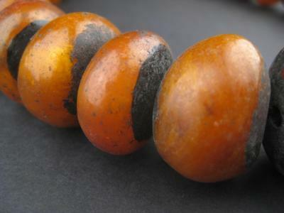 African Moroccan Amber Resin Beads - Graduated (Honey) Morocco