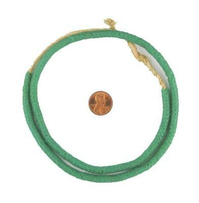 Glass Snake Beads, Sea Green Color Small 6mm Nigeria African Unusual Large Hole