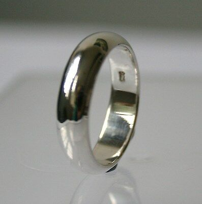 Solid 925 Sterling Silver Plain 5mm Ladies/Mens Wedding Ring Band/ Thumb Ring