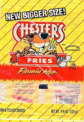 (5) Chester's Flamin Hot Flavored Fries 4 oz Get Flamin' Hot All Summer Long