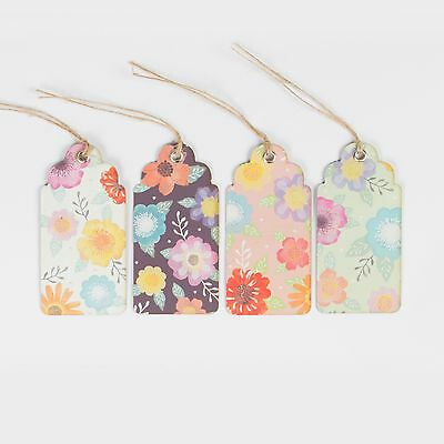 Set of 8 Watercolour Floral Gift Tags