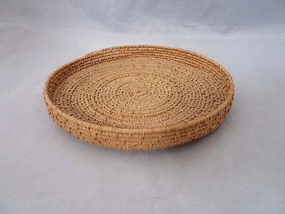 "Native American Weave Small Basket Dish Tray. Nice Design. Approx 5.75"" D"