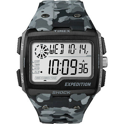 NEW Timex Expedition Grid Shock Camo Gray TW4B030009J