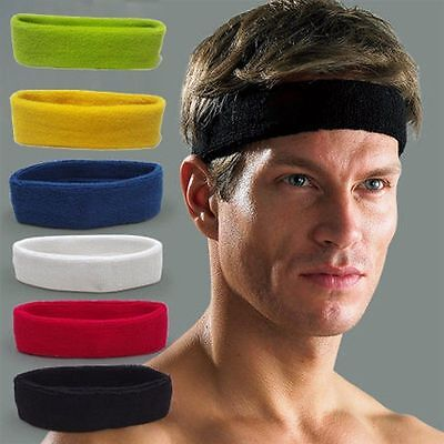 Fashion Cotton Women Men Sport Sweat Sweatband Headband Yoga Head Band Hair