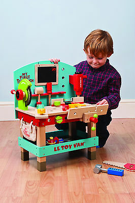 NEW Le Toy Van My First Tool Work Bench Incl Tools Wooden Wood Toy