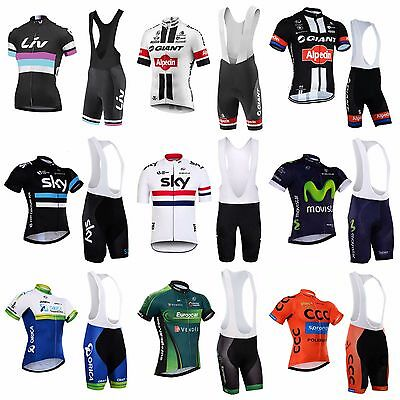 2016 Cycling Jersey Bib Shorts Set Team Sky Sports Giant Riding Gear Clothing