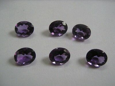 Finest Lot 15 Pcs Natural Purple Amethyst 6X8 Mm Oval Faceted Cut Loose Gemstone