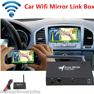 Car WIFI Mirror Box Smart Phone GPS Navigate iOSAirplay Miracast Interface Cable
