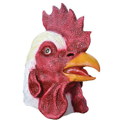 #rooster Chicken Rubber Mask Christmas Halloween Accessory