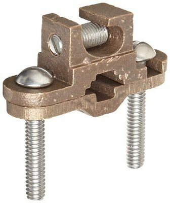"""Morris Products 91652 Ground Lay in Clamp, Copper, 1/2 - 1"""" Pipe Range, 3/8 - 1"""""""