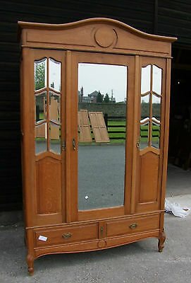 Quality Vintage French Mirrored 2 Door - 2 Drawer Wardrobe  -  (000002)