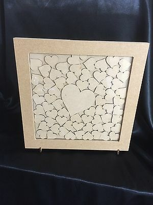 Wedding Drop Box Guest Book Complete With Hearts Square