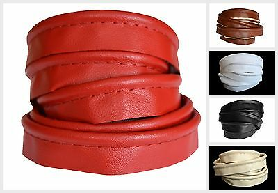 1 mtr MEDIUM Ø3mm Faux Leather Piping Insertion Flanged Upholstery Cord Sewing