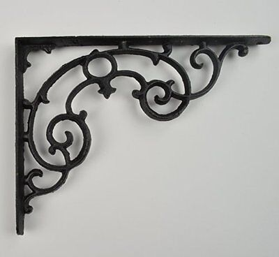"Wall Shelf Bracket - Ornate Pattern - Cast Iron - 11.25"" Long, New, Free Shippin"