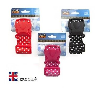 High Quality POLKA DOT LUGGAGE STRAP 1.65 M Buckle Travel Baggage Tie Down Belt
