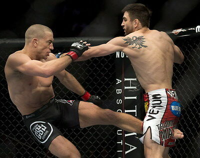 """055 Georges St. Pierre - GSP MMA UFC Canadian Semi-Retired 30""""x24"""" Poster"""