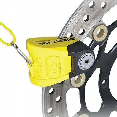 Oxford Quartz XD6 High Security Motorcycle Disc Lock (6mm Pin) Yellow/Black
