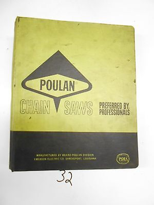 Vintage Poulan Chainsaw Dealers Parts Service Manual 1973 Prices Pics & More