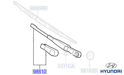 Genuine Hyundai Matrix Rear Wiper Arm - 9881017000
