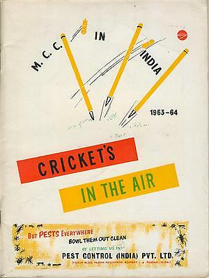 England Tour Of India 1963-64  - Cricket's In The Air. Official Tour Brochure