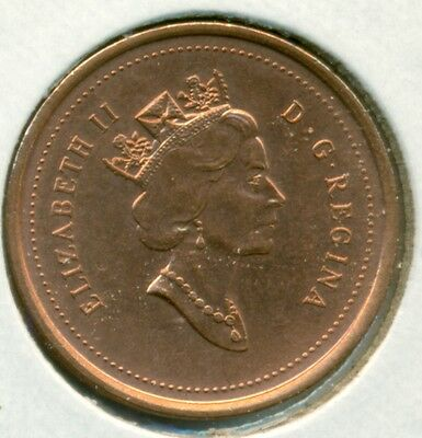 1999 Canada Small Cent, Choice Brilliant Uncirculated Red, Great Price!