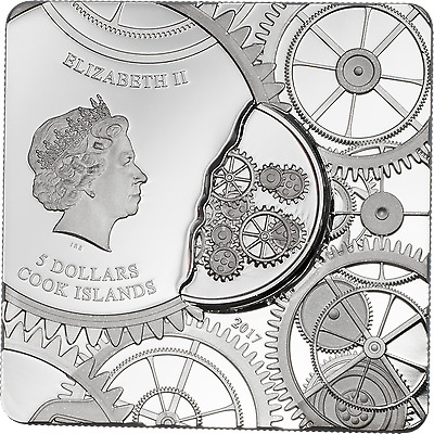 2017 $5 Cook Islands - VALENTINE'S DAY .999 Proof Silver Coin