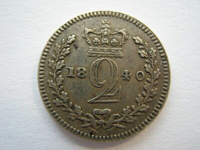 1840 Maundy Twopence