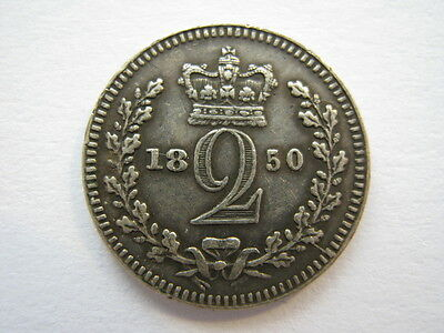 1850 Maundy Twopence