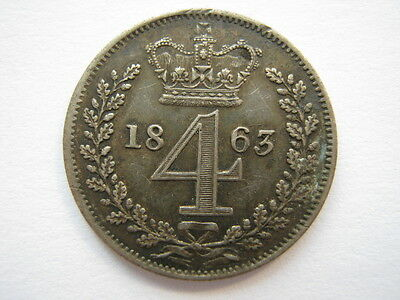 1863 Maundy Fourpence