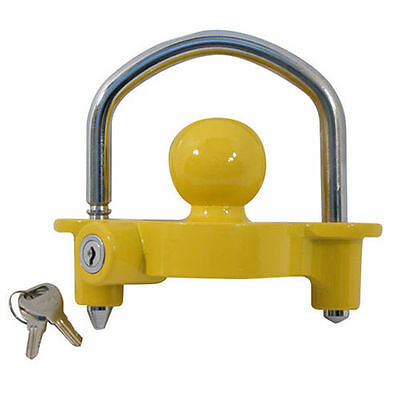 Universal High Security Hitch Lock Caravan Trailer Coupling Tow Ball Lock