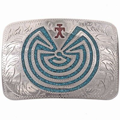 Inlaid Man in the Maze Belt Buckle by Jackson
