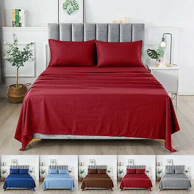 1800 Series Egyptian Checkered Bed Sheet Set Microfiber Soft 4 Piece Multi Color