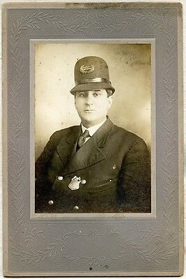 Nice 1910's - 1920's Eastport, Maine Deputy Marshall Cabinet Photo