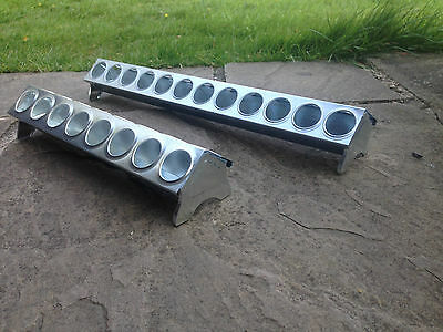 30cm or 50cm galvanised chick chicken duckling quail poultry trough feeder holes