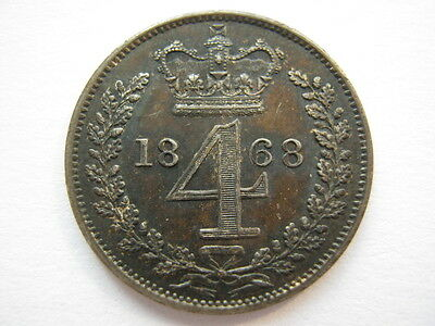 1868 Maundy Fourpence
