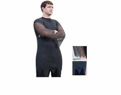 Legends In Steel Black Chainmail Mid Length Tunic Armor - Bk1688