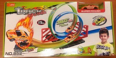 New 360* Hot Racetrack with 2loop TwisterLauncher Toy similar  Hot Wheel level 2