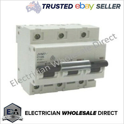"125 Amp A Three 3 Pole Phase CIRCUIT BREAKER -""NOT MAIN SWITCH""10KA 415 VOLT NEW"