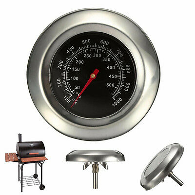 Stainless Steel Barbecue BBQ Smoker Grill Thermometer Temperature Gauge 50~500℃