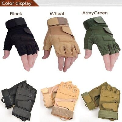 Nice Fingerless Outdoor Sports  Military Tactical Riding Game Gloves Sales