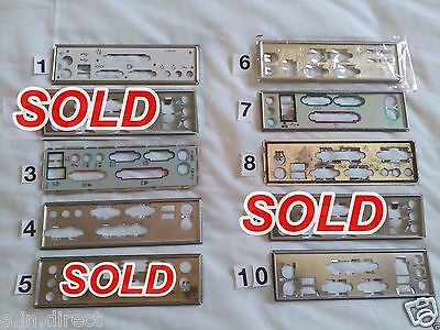 I/o Io Plate Back Shield Choice Of One For Matx Atx Unknown Motherboard Pc Lot 2