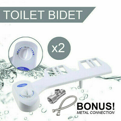 2x Hygiene Water Wash Clean Toilet Bidet Unisex Easy / Toilet Seat Attachment AU