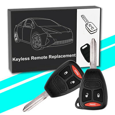 2X NEW Uncut Flip Key Pair Car Remote Entry Fob Keyless for VW with Chip