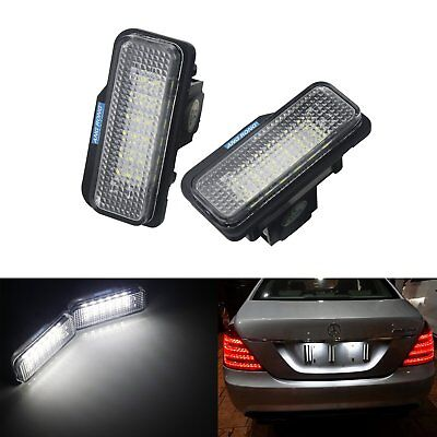 2x LED Licence Number Plate Light Mercedes C E CLS SLK Class S203 R171 C219 W211