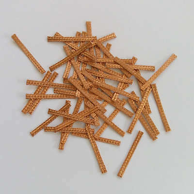 50x 27mm Hi-Performance SCALEXTRIC BRAIDS Contacts Pick-ups  Brushes Copper