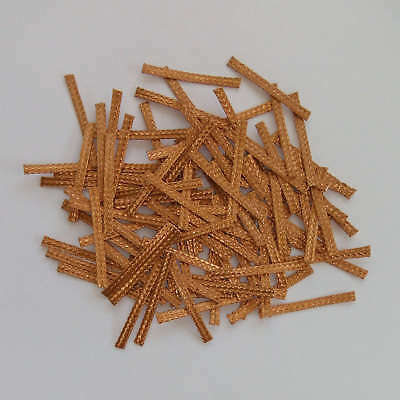 100x 27mm Hi-Performance SCALEXTRIC BRAIDS Contacts Pick-ups  Brushes Copper