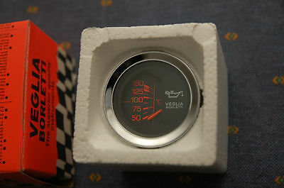 NOS Veglia oil temperature gauge, 52mm Alfa Romeo, Ferrari, olio temperatura