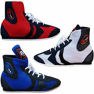 ZstarAX Leather Boxing Boots Short Anklet Boxing Shoes / Boots Mesh Panel