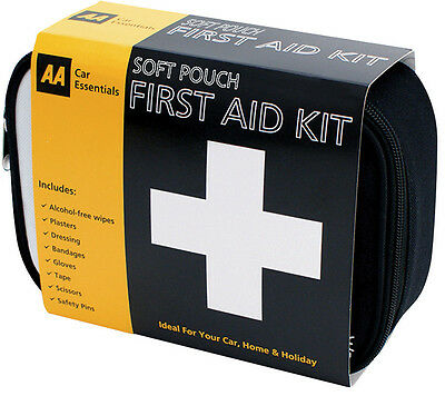 AA First Aid Kit Emergency Medical Bag Home Travel Car Boat Holiday Case