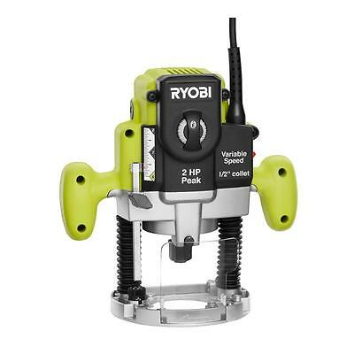 Ryobi 2 HP 10 Amp Plunge Base Router Electric Plunger Plunging Routers Power NEW